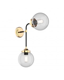 ZUMA W0454-02D-SDAC RIANO Ścienna LAMPA szklana KULE molekuły balls złoty