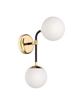 ZUMA W0454-02A-SDAA RIANO Ścienna LAMPA szklana KULE molekuły balls złoty
