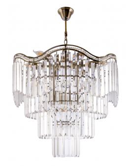 VENTI E1735/9 AB Żyrandol LAMPA wisząca kryształowa BONA Ø58CM glamour ZWIS crystal przezroczysta złoty