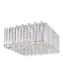 ZUMA C0465-05D-B5AC VENTUS Plafon LAMPA sufitowa kwadratowa OPRAWA z kryształkami glamour crystal przezroczysta