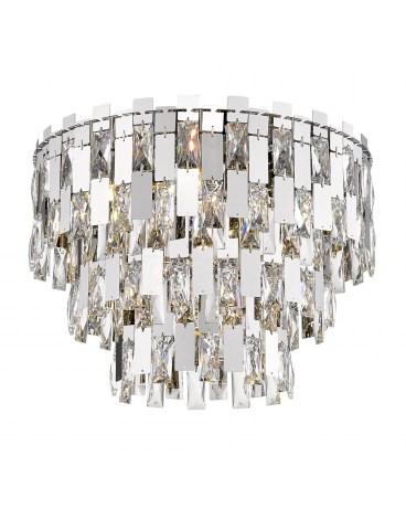 ZUMA C0480-07A-F4AC ANZIO Plafon LAMPA sufitowa okrągła OPRAWA z kryształkami glamour crystal przezroczysta