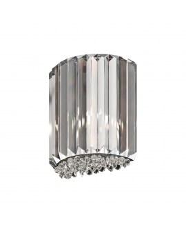 ZUMA W0360-01A-B5AC PRINCE KINKIET LAMPA ścienna okrągła OPRAWA z kryształkami glamour crystal przezroczysta
