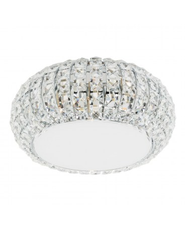 ZUMA C0109-04A-F4AC ANTARTICA LAMPA sufitowa okrągła OPRAWA z kryształkami glamour crystal przezroczysta