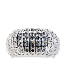 ZUMA W0174-02S-F4AC ANTARTICA KINKIET LAMPA ścienna okrągła OPRAWA z kryształkami glamour crystal przezroczysta