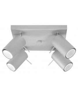 Elegancka Lampa Sufitowa OVAL 4 Kwadrat Szary Plafon Spot