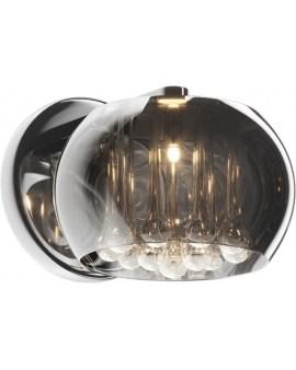 ZUMA W0076-01D-F4FZ CRYSTAL 1pł. Kinkiet kryształowy LAMPA szklana kula ścienna KRYSZTAŁOWY szkło chromowane