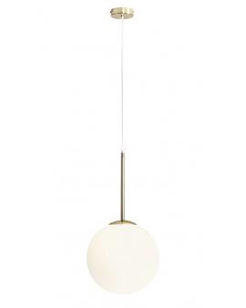 RABAT! DO -18% BOSSO 1 GOLD LAMPA 1087G30 wisząca modernistyczna mleczna kula loftowa molekuły glass metalowe pręty szklana zwis