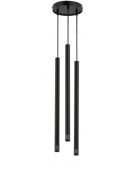 % SIGMA 33254 LAMPA wisząca SOPEL LASER 3 CZARNY metalowy OPRAWA ZWIS sople tuby spot rurki laser sopel