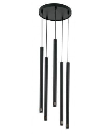 % SIGMA 33228 LAMPA wisząca SOPEL LASER 5 CZARNY metalowy OPRAWA ZWIS sople tuby spot rurki laser sopel