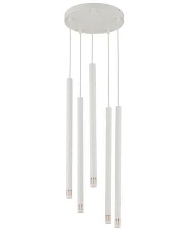 % SIGMA 33229 LAMPA wisząca SOPEL LASER 5 BIAŁY metalowy OPRAWA ZWIS sople tuby spot rurki laser sopel