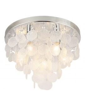 RABAT! DO -18% ZUMA 18365L PARDO Plafon LAMPA sufitowa szklana OPRAWA okrągła kryształki cristal glamour złota przezroczysta