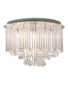 RABAT! DO -18% ZUMA 19156L SITANO Plafon LAMPA sufitowa szklana OPRAWA okrągła kryształki cristal glamour złota przezroczysta