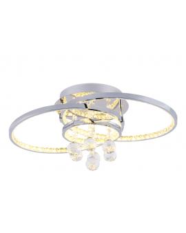 RABAT! DO -18% ZUMA 18143 CASTI Plafon LAMPA sufitowa LED 24W OPRAWA okrągła kryształki cristal glamour chrom przezroczysta
