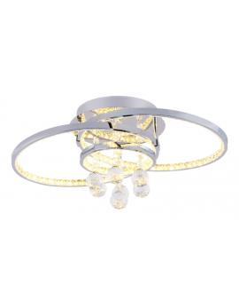 RABAT! DO -18% ZUMA 18144 CASTI Plafon LAMPA sufitowa LED 30W OPRAWA okrągła kryształki cristal glamour chrom