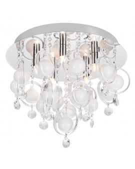 RABAT! DO -18% ZUMA 19031-M GRESSA Plafon LAMPA sufitowa szklana OPRAWA okrągła kryształki cristal glamour chrom przezroczysta