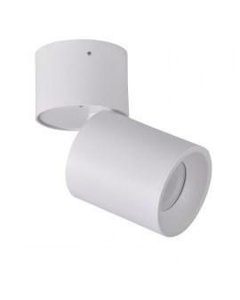RABAT! DO -18% POLUX 314062 ASTRA Oprawa sufitowa LED lampa natynkowa ruchoma tuba biała/srebrna SPOT 10W