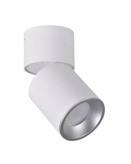 RABAT! DO -18% POLUX 314031 ASTRA Oprawa sufitowa LED lampa natynkowa ruchoma tuba biała/srebrna SPOT 10W