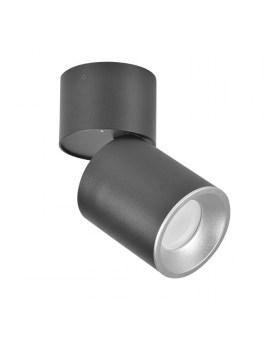 RABAT! DO -18% POLUX 314055 ASTRA Oprawa sufitowa LED lampa natynkowa ruchoma tuba czarna/srebrna SPOT 10W