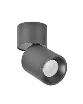 RABAT! DO -18% POLUX 314079 ASTRA Oprawa sufitowa LED lampa natynkowa ruchoma tuba czarna SPOT 10W
