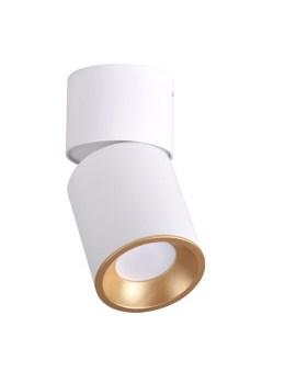 RABAT! DO -18% POLUX 314260 NIXA GU10 Oprawa sufitowa LED lampa natynkowa ruchoma tuba biały/złoty
