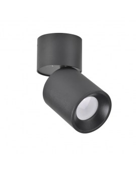 RABAT! DO -18% POLUX 314246 NIXA GU10 Oprawa sufitowa LED lampa natynkowa ruchoma tuba czarny