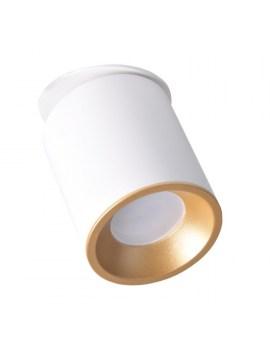 RABAT! DO -18% POLUX 314215 HARON GU10 LED Reflektor Oprawa Sufitowa Biały/złoty