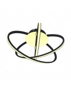 RABAT! DO -18% ZUMA 0044 CARRELLO LAMPA SUFITOWA CZARNA-CHROM/CZARNY/CHROM