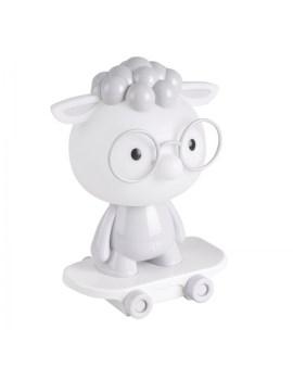 RABAT! DO -18% POLUX 314802 Lampka dziecięca biurkowa LED OWCA szara na deskorolce 2,5W