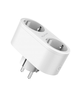 % POLUX 315939 Gniazdo elektryczne podwójne SMART WiFi Tuya