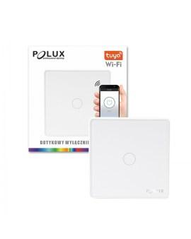 % POLUX 314338 Włącznik pojedynczy dotykowy SMART wifi Tuya biały