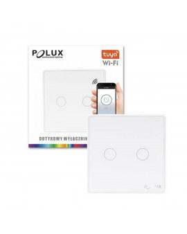 % POLUX 314345 Włącznik pojedynczy dotykowy SMART wifi Tuya biały