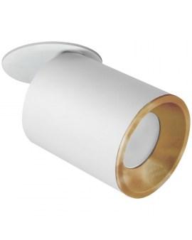 % POLUX 314109 PALLAS Oczko przegubowe podtynkowe GU10 biało-złote