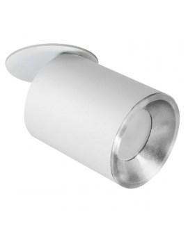 % POLUX 314116 PALLAS Oczko przegubowe podtynkowe GU10 biało-srebrne