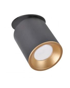 % POLUX 314123 PALLAS Oczko przegubowe podtynkowe GU10 czarno-złote