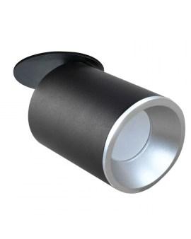 % POLUX 314130 PALLAS Oczko przegubowe podtynkowe GU10 czarno-srebrne