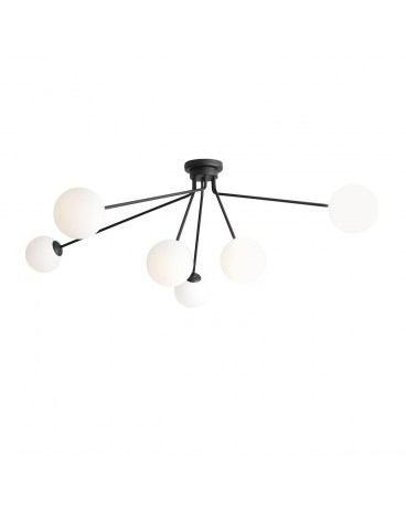 RABAT! DO -18% ALDEX 1082PL_K1 HOLM 6 BLACK LAMPA sufitowa KULA kule szklane białe