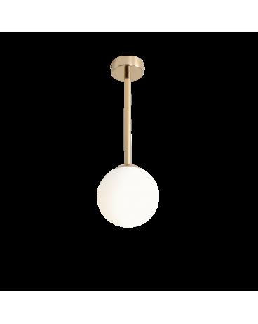 RABAT! DO -18% ALDEX 1080PL_G30_M PINNE M GOLD LAMPA sufitowa modernistyczna mleczna kula SZTYCA szklana kula zwis złoty