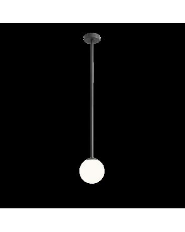 RABAT! DO -18% ALDEX 1080PL_G1_L PINNE L BLACK LAMPA sufitowa modernistyczna mleczna kula SZTYCA szklana kula zwis złoty
