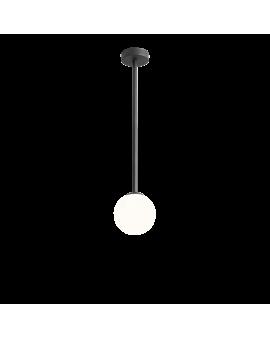 RABAT! DO -18% ALDEX 1080PL_G1_M PINNE M BLACK LAMPA sufitowa modernistyczna mleczna kula SZTYCA szklana kula zwis złoty