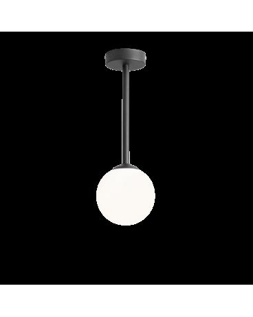 RABAT! DO -18% ALDEX 1080PL_G1_S PINNE S BLACK LAMPA sufitowa modernistyczna mleczna kula SZTYCA szklana kula zwis złoty