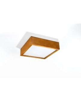 LEDIVO Lampa Sufitowa KWADRAT Plafon DREWNO SEWILLA 30 DĄB
