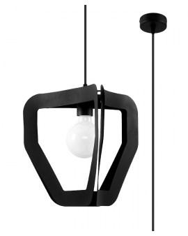LEDIVO Nowoczesny żyrandol MALAGA E27 LAMPA abażur LOFT OPRAWA CZARNY
