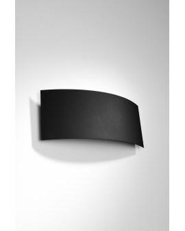 LEDIVO Kinkiet INEA CZARNY Nowoczesna Oprawa Lampa ścienna minimalistyczny design