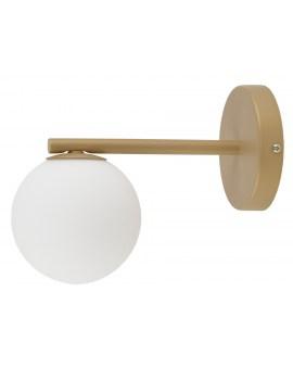 % RABAT % LAMPA ścienna kinkiet złoty kula GAMA 1 SIGMA 33335 biała kula