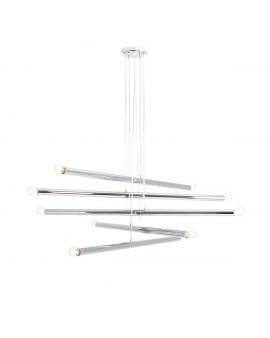 RABAT! DO -18% ALDEX 1072M4 TUBO 10 CHROME LAMPA wisząca chrom