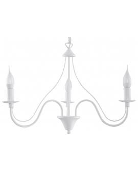 Klasyczna Lampa Wisząca Świece Żyrandol świecznikowy MINERWA 3 Biały 24h!