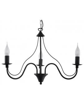 Klasyczna Lampa Wisząca Świece Żyrandol SAVANA 3 Czarny