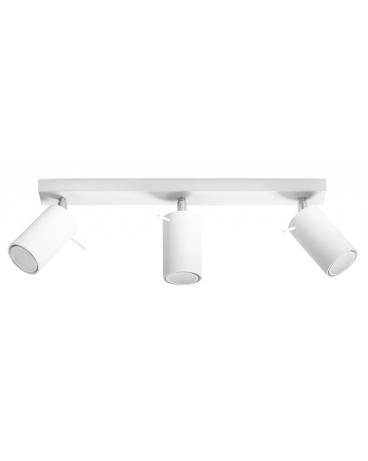 Plafon OVAL 3pł. biały