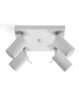 Plafon OVAL 4pł. biały