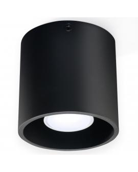 Plafon PLUTON 1pł. czarny